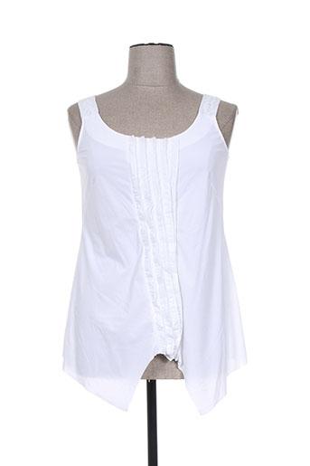 my square chemises femme de couleur blanc