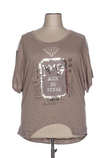 mat. t-shirts femme de couleur beige