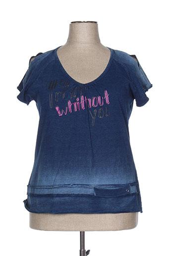 biluzik t-shirts femme de couleur bleu