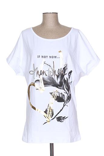oltre tempo t-shirts femme de couleur blanc