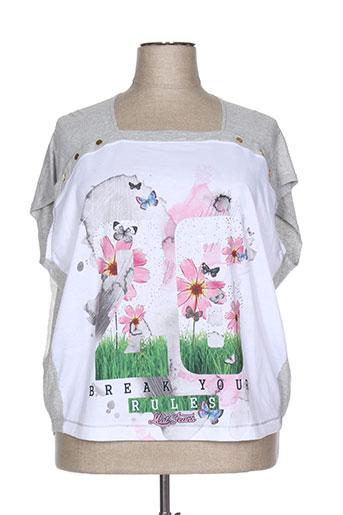 mat. chemises femme de couleur blanc