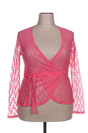 miss bisbigli gilets femme de couleur rose