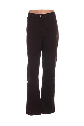 jost pantalons femme de couleur marron