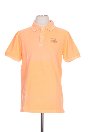 black wellis t-shirts homme de couleur orange
