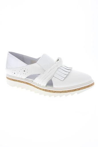regard chaussures femme de couleur blanc