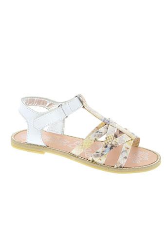 primigi chaussures fille de couleur blanc