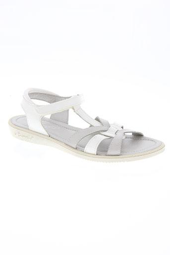 mod 8 chaussures fille de couleur blanc