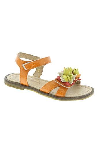 romagnoli chaussures fille de couleur orange