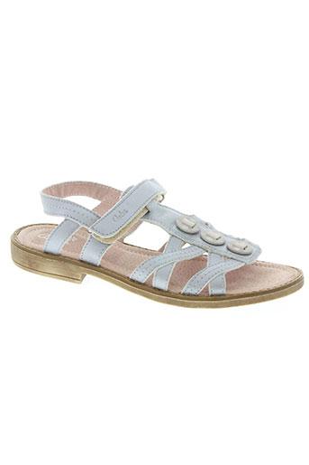 Sandales/Nu pieds gris ASTER pour fille