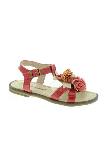 Sandales/Nu pieds rouge ROMAGNOLI pour fille