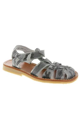 Sandales/Nu pieds gris KNEPP pour garçon