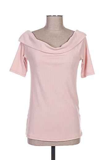 esqualo chemises femme de couleur rose