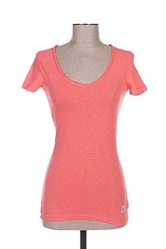 T-shirt manches courtes orange DN.SIXTY SEVEN pour femme