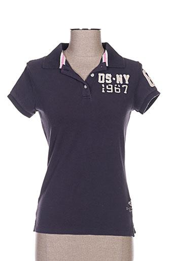 Polo manches courtes bleu DN.SIXTY SEVEN pour femme
