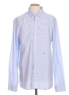 Chemise manches longues bleu REPLAY pour homme