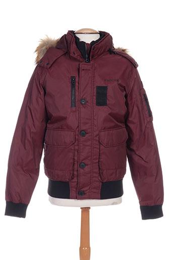 kaporal vestes homme de couleur rouge