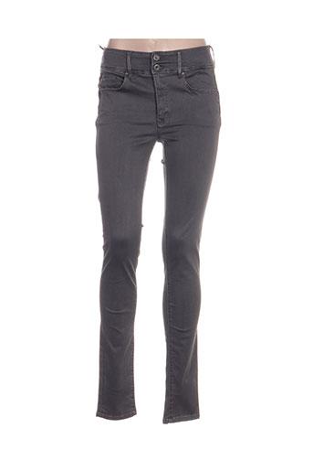salsa jeans femme de couleur gris
