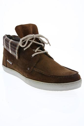 mascaret chaussures homme de couleur marron