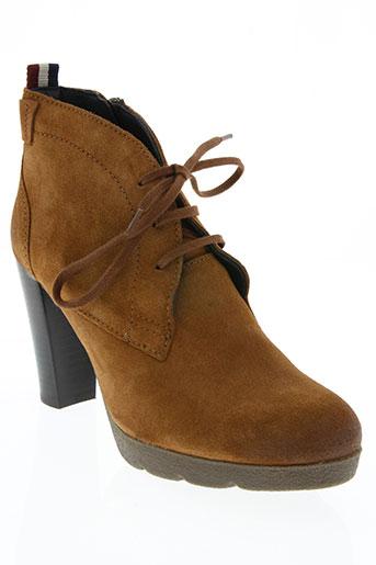 tommy hilfiger chaussures femme de couleur marron