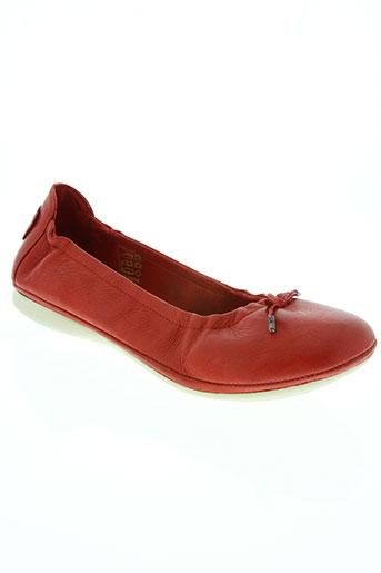 palladium chaussures femme de couleur rouge