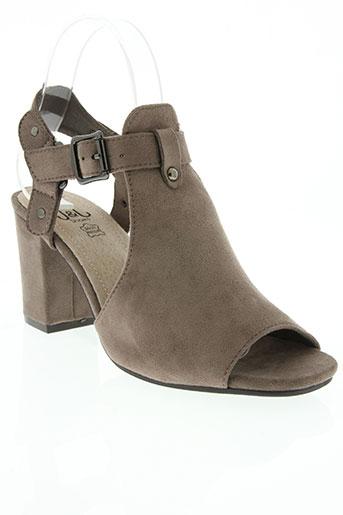 j&j shoes chaussures femme de couleur gris