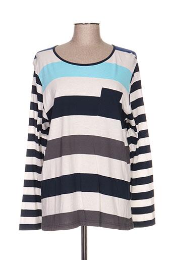 jensen t-shirts femme de couleur bleu