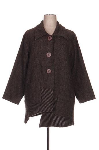 neslay manteaux femme de couleur marron