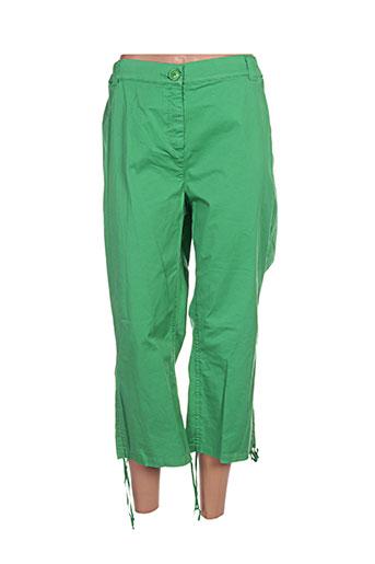 x-two pantacourts femme de couleur vert