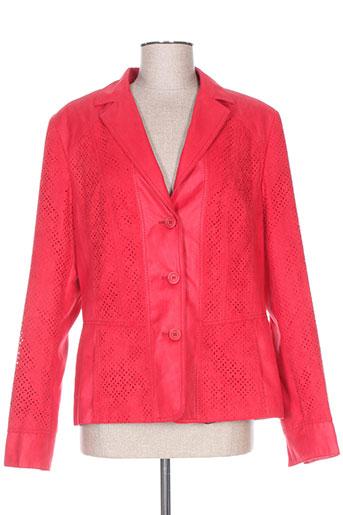 kirsten vestes femme de couleur rouge