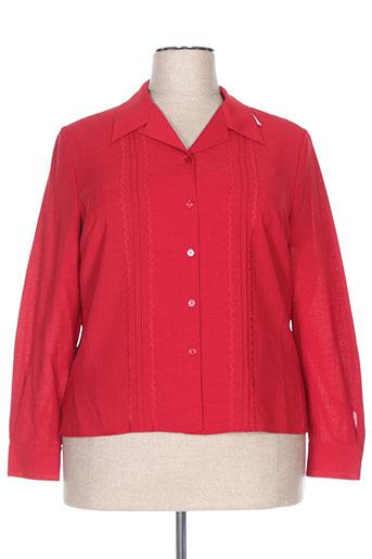 prunelle chemises femme de couleur rouge