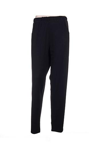 gevana pantalons femme de couleur noir