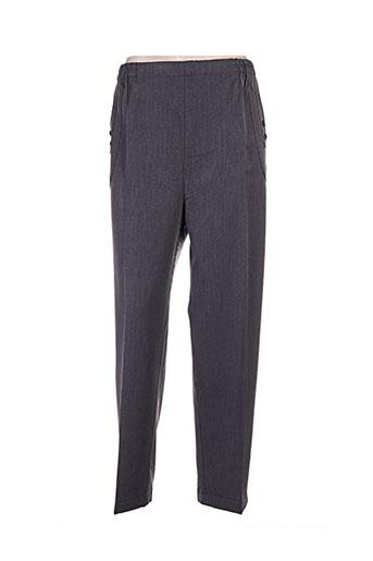 plurielles pantalons femme de couleur gris