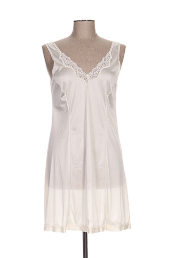 lingerie elizabeth nuit femme de couleur blanc