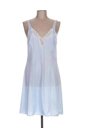 lingerie elizabeth nuit femme de couleur bleu