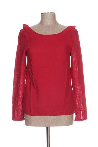 cerise blue chemises femme de couleur rouge