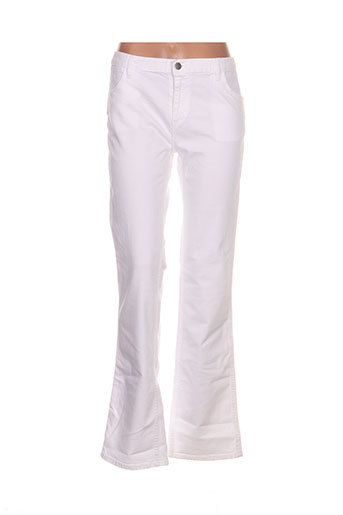 lacoste jeans femme de couleur blanc