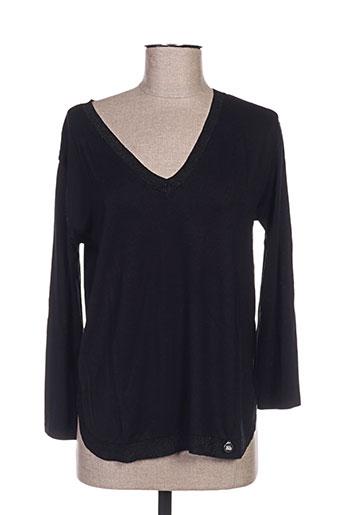 blanc boheme t-shirts femme de couleur noir