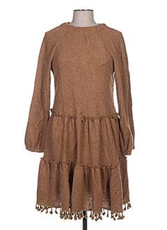 Robe mi-longue marron ZOE LA FEE pour femme