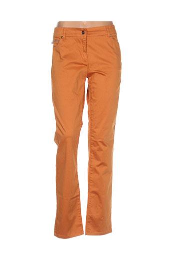 voodoo pantalons femme de couleur orange