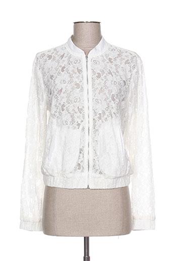 b.young vestes femme de couleur blanc