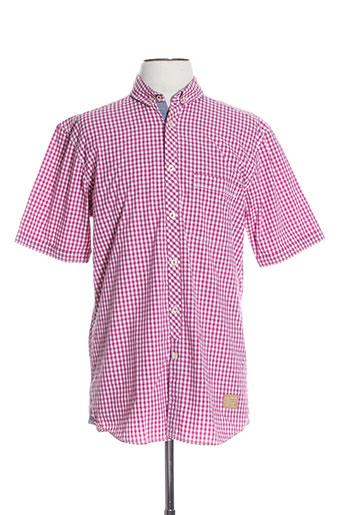 calamar chemises homme de couleur rose