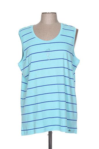 thalassa t-shirts femme de couleur bleu