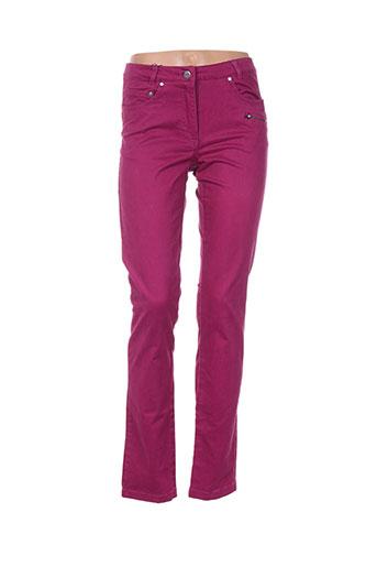 thalassa pantalons femme de couleur violet