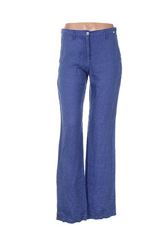 rivieres de lune pantalons femme de couleur bleu