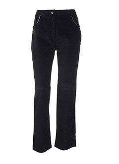 Pantalon casual noir FIGURE LIBRE pour femme