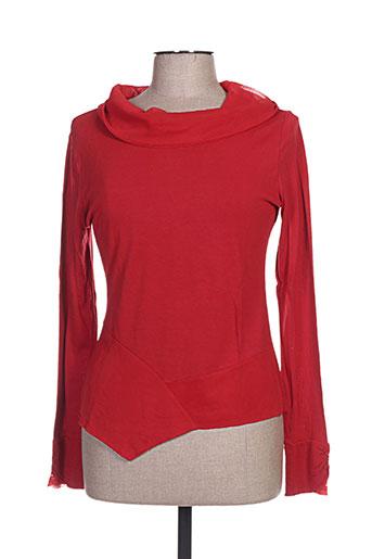 figure libre chemises femme de couleur rouge