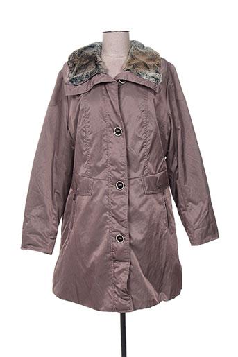 Manteau long marron KIRSTEN pour femme