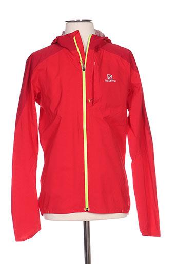 salomon manteaux homme de couleur rouge