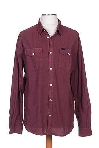 pepe jeans chemises homme de couleur rouge