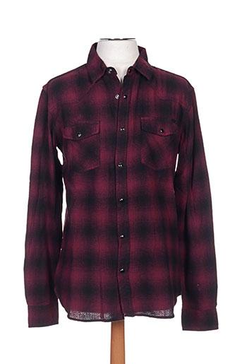 fresh brand chemises homme de couleur rouge